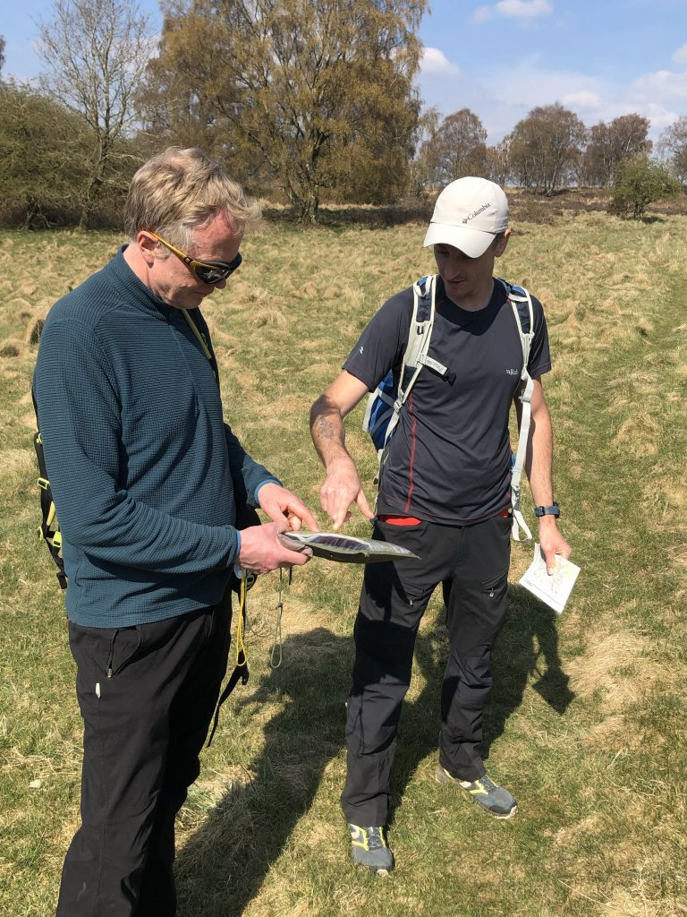 Instruction using map and compass